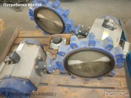 Бътерфлай клапа с електрическо задвижване Ф300
