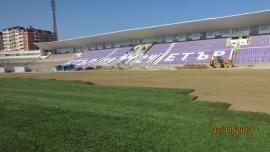 Ivaylo Stadium - Veliko Tarnovo, playing ground reconstruction (I-st stage)