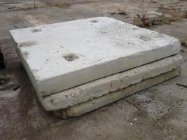 Concrete slabs for temporary roads 210 cm x 210 cm x 20 cm